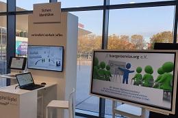 Messestand von buergerservice.org am Digital Gipfel 2019 in Dortmund