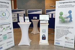 Der Ausstellungsstand von buergerservice.org beim 7. Fachkongress des IT-Planungsrats in Lübeck
