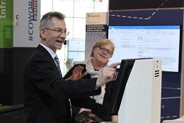 Am Stand vom Fraunhofer SIT Darmstadt wurde ein Bürgerterminal von buergerservice.org zur Registrierung für die Volksverschlüsselung eingesetzt (Bild: buergerservice.org).