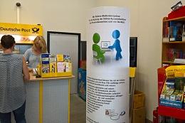 Alle Dienste mit Online-Ausweisfunktion k�nnen ab sofort bei Lottemann, dem Lotto-, Totto-, Zeitschriften- und Tabakladen mit angeschlossener Postfiliale im Retti-Center in Ansbach genutzt werden. Für eine vertrauliche Nutzung kann das Terminal zur Wand gedreht werden.