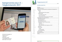 Tätigkeitsbericht 2017 buergerservice.org e.V.