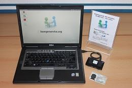 Foto:Die SID-Box kann auch an einem 10 Jahre alten Dell Notebook mit 2 GB Arbeitsspeicher betrieben werden.